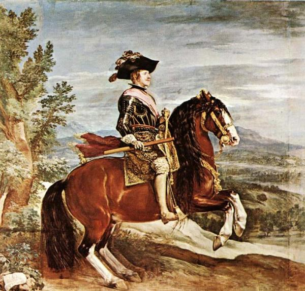 Oil Painting Reproduction of Velazquez- Equestrian Portrait of Philip IV