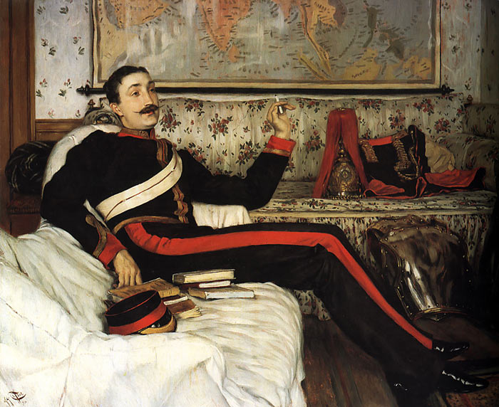 Oil Painting Reproduction of Tissot - Colonel Frederick Gustavus Barnaby