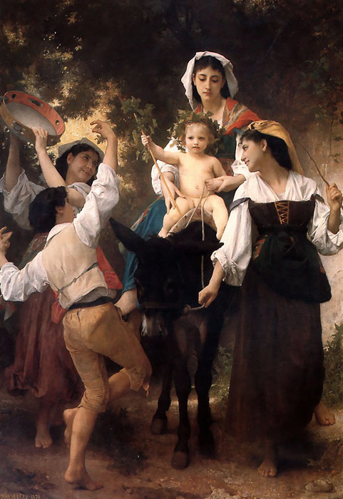 Oil Painting Reproduction of Bouguereau- Promenade