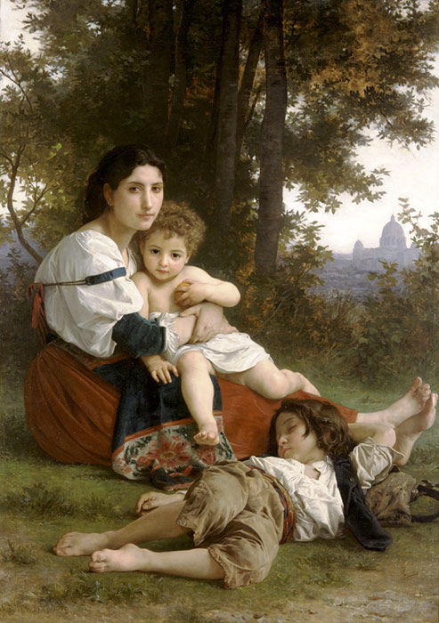 Oil Painting Reproduction of Bouguereau- Rest