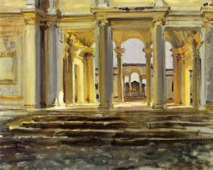 Oil Painting Reproduction of Sargent- Villa Papa Giulla