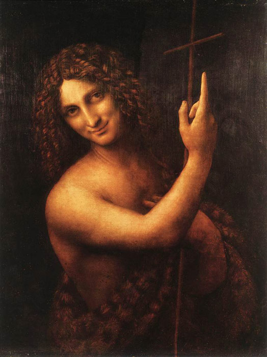 Leonardo da Vinci Oil Painting Reproductions - St John the Baptist