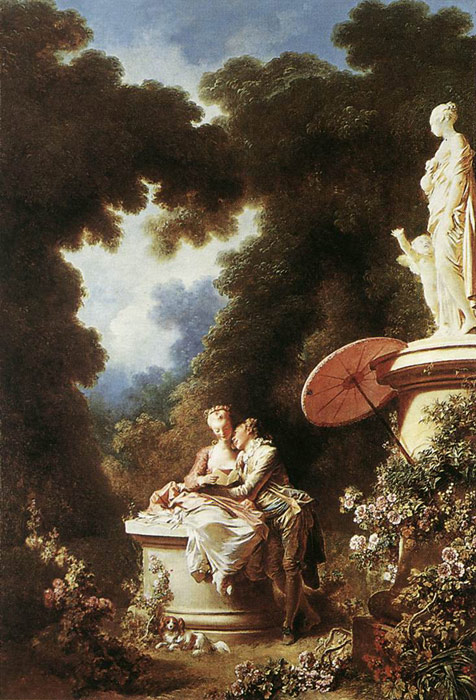 Oil Painting Reproduction of Fragonard- The Confession of Love