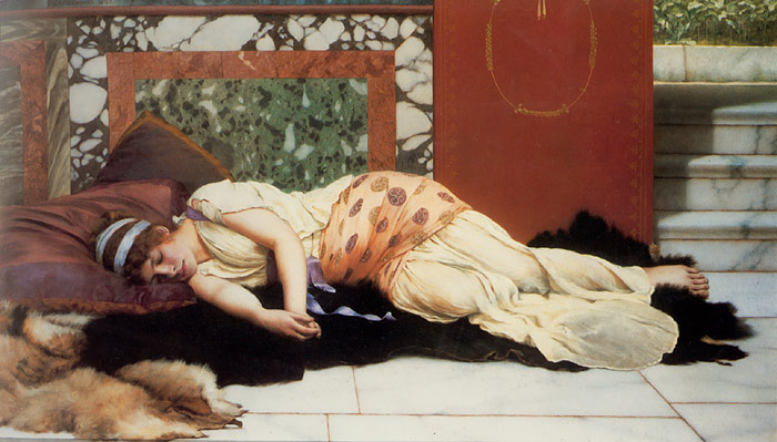 Godward Oil Painting Reproductions- Endymion