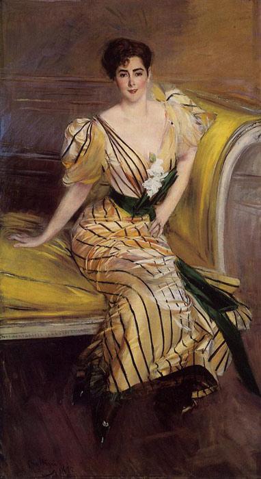 Boldini Oil Painting Reproductions- Portrait of Madame Josephina Alvear de Errazuriz