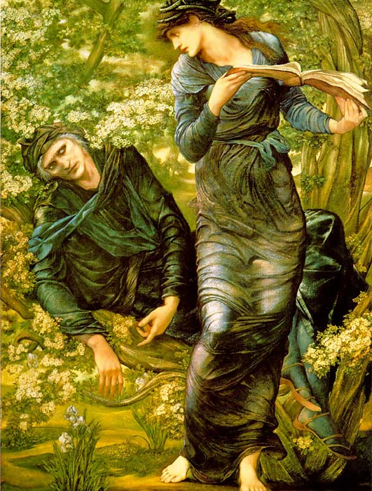 Burne-Jones Oil Painting Reproductions- The Beguiling of Merlin