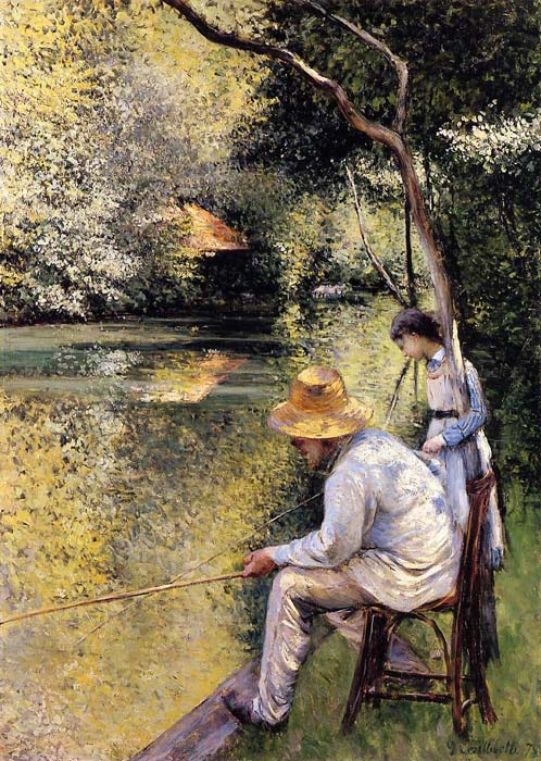 Caillebotte Oil Painting Reproductions- Fishing