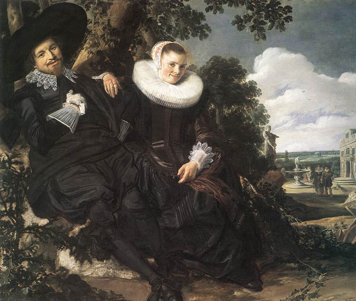Hals Oil Painting Reproductions - Married Couple in a Garden