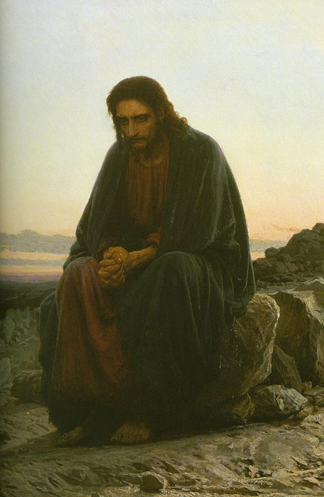 Kramskoy Oil Painting Reproductions- Christ in the Wilderness