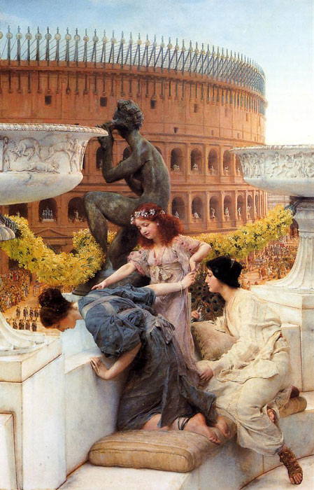 Oil Painting Reproduction of Alma-Tadema - The Colosseum