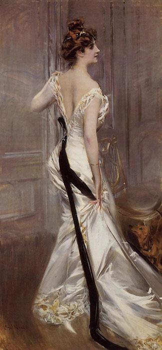 Oil Painting Reproduction of Boldini- The Black Sash