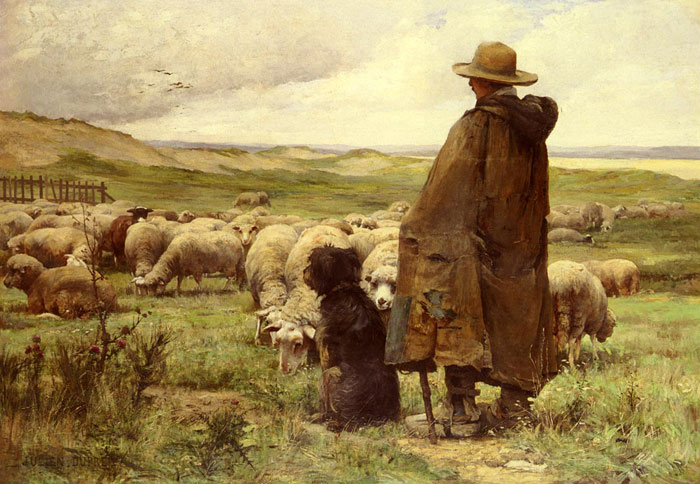 Oil Painting Reproduction of Dupre - The Shepherd