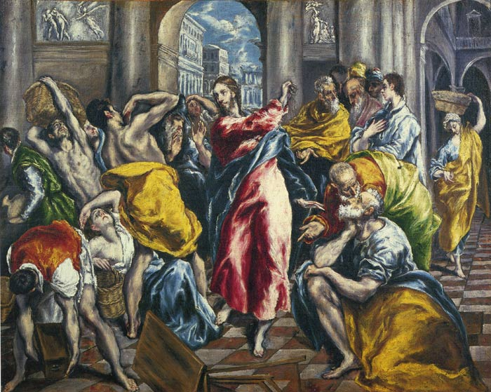 Oil Painting Reproduction of El Greco - The Purification of the Temple