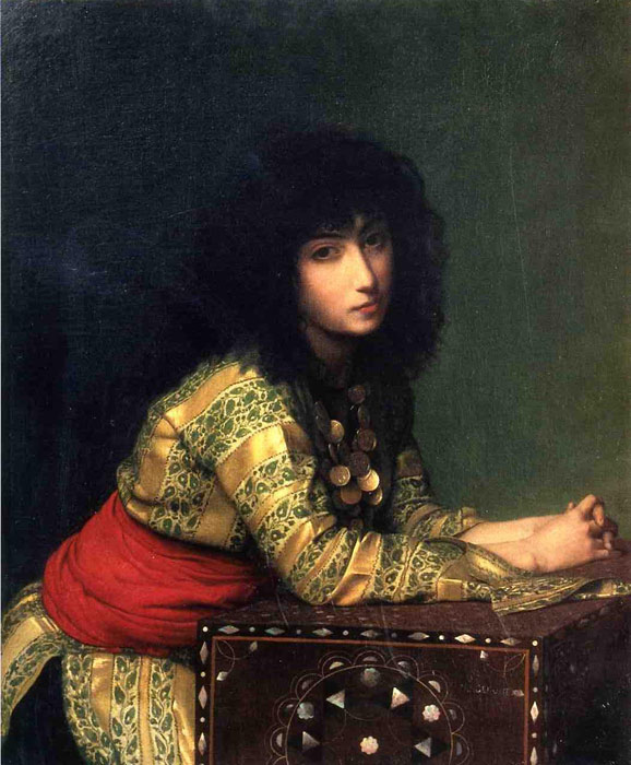 Oil Painting Reproduction of Gerome- Egyptian Girl