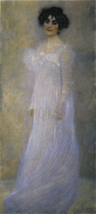 Oil Painting Reproduction of Klimt- Portrait of Serena Lederer
