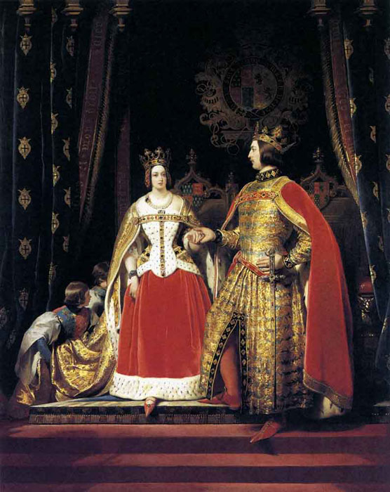 Oil Painting Reproduction of Landseer- Queen Victoria and Prince Albert at the Bal