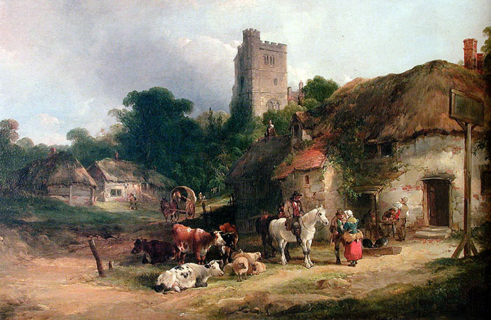 Oil Painting Reproduction of Shayer- The Plough Inn