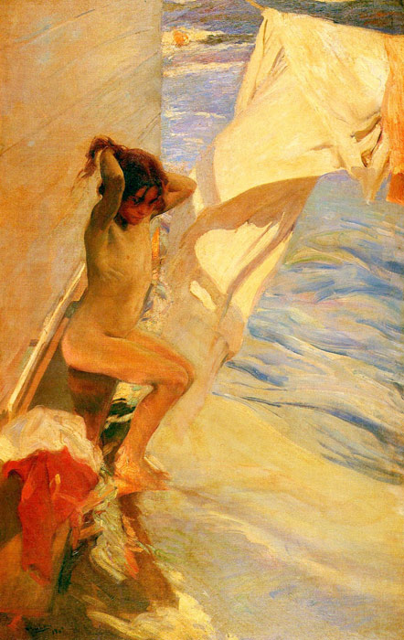 Oil Painting Reproduction of Sorolla y Bastida - Before Bathing