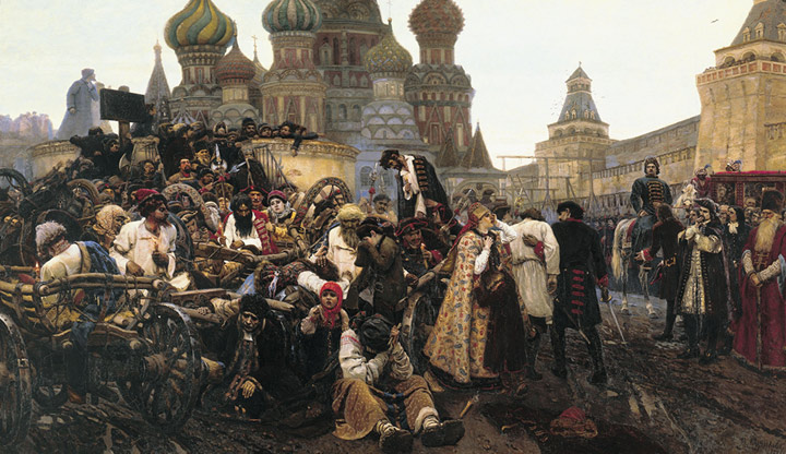 Oil Painting Reproduction of Surikov - Morning of Streltzis execution