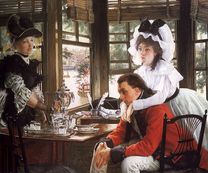Oil Painting Reproduction of Tissot- Bad News