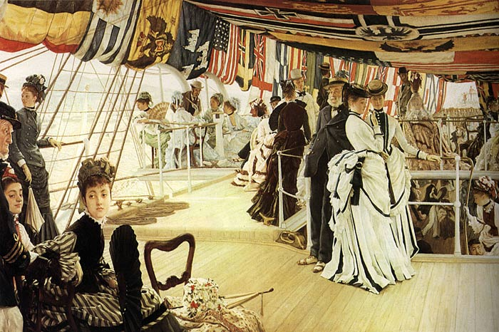 Oil Painting Reproduction of Tissot - The Ball on Shipboard
