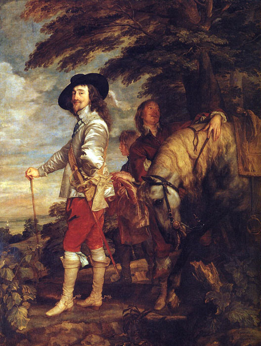 Oil Painting Reproduction of van Dyck- Charles I: King of England at the Hunt