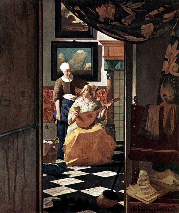 Oil Painting Reproduction of Vermeer- The Love Letter