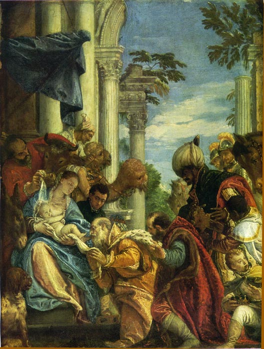 Oil Painting Reproduction of Veronese- The Adoration of the Magi