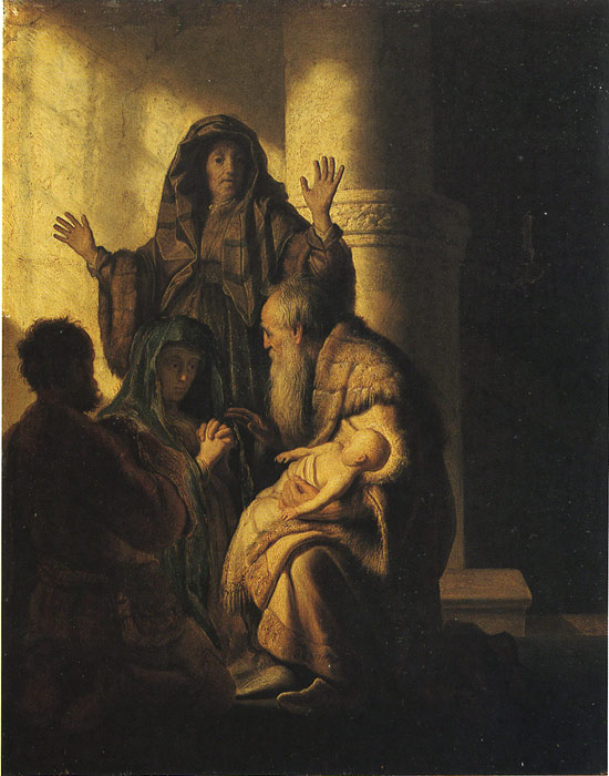 Rembrandt Oil Painting Reproductions - The Presentation of Jesus in the Temple