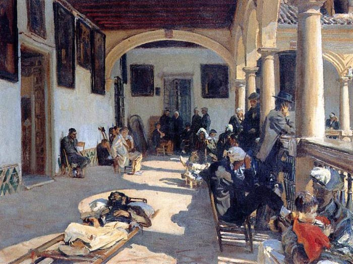 Sargent Oil Painting Reproductions - Hospital at Granada