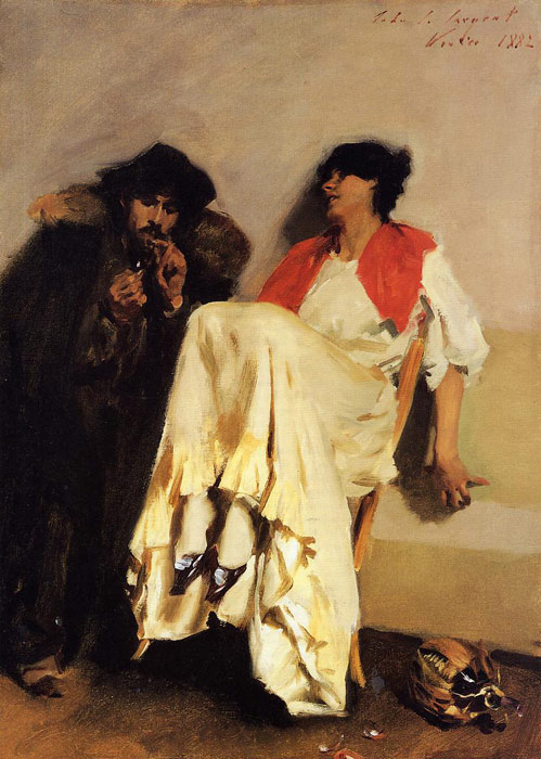 Sargent Oil Painting Reproductions - The Sulphur Match
