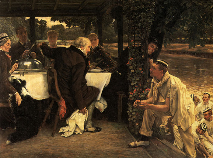 Tissot Oil Painting Reproductions- The Prodigal Son in Modern Life: The Fatted Calf