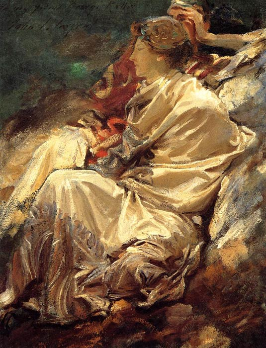 Sargent Oil Painting Reproductions - Cashmere Shawl