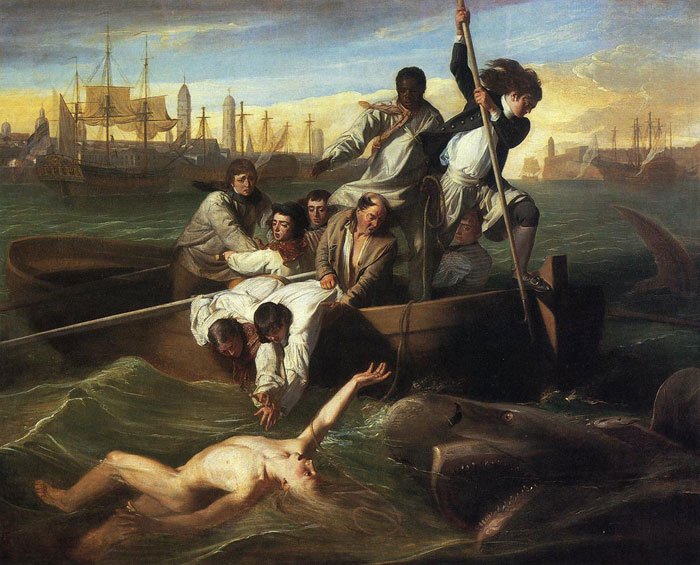 Oil Painting Reproduction of Copley- Watson and the Shark