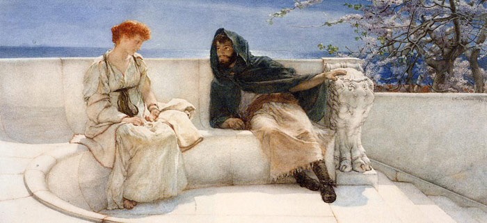 Alma-Tadema Oil Painting Reproductions - A Declaration