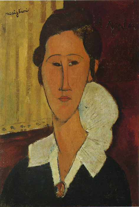 Oil Painting Reproduction of Modigliani- Portrait of Anna Zborovska