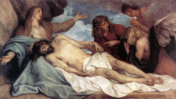Antony van Dyck Oil Painting Reproductions - The Lamentation of Christ