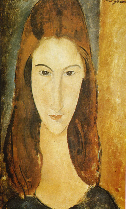 Oil Painting Reproduction of Modigliani- Portrait of Jeanne Hebuterne