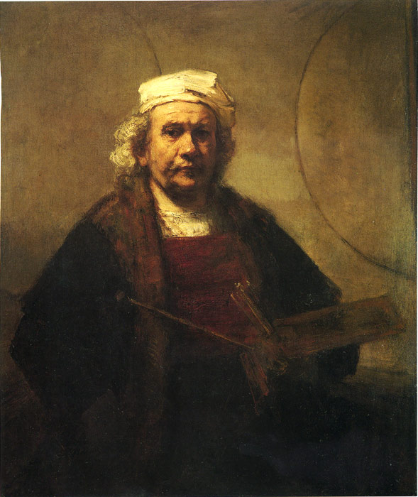 Oil Painting Reproduction of Rembrandt - Self-Portrait