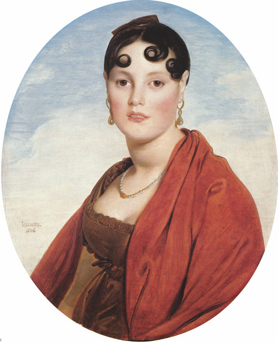 Oil Painting Reproduction of Ingres- Madame Aymon, known as La Belle Zelie