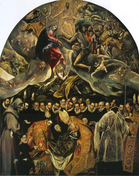 Oil Painting Reproduction of El Greco- Burial of Count Orgaz