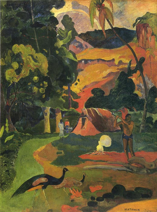 Oil Painting Reproduction of Gauguin- Matamoe