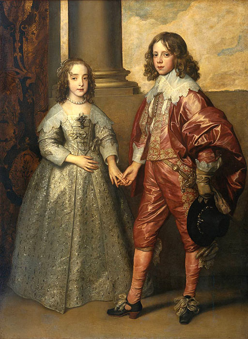 Antony van Dyck Oil Painting Reproductions - William II, Prince of Orange and Princess Henrietta