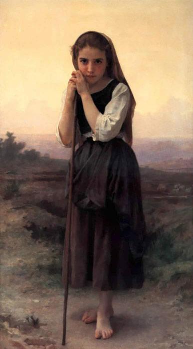 Bouguereau Oil Painting Reproductions- Little Shepherdess