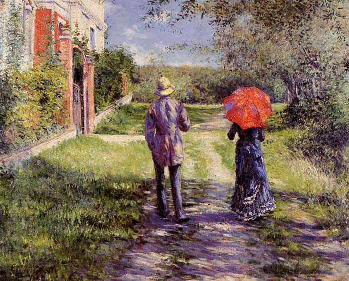 Caillebotte Oil Painting Reproductions- Rising Road