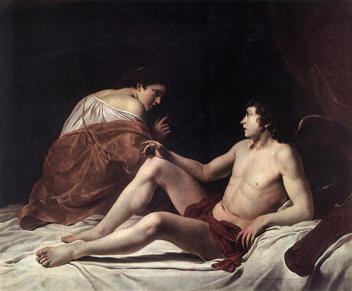 Gentileschi Oil Painting Reproductions - Cupid and Psyche