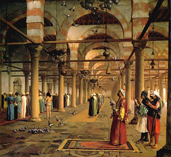 Gerome Oil Painting Reproductions- Public Prayer in the Mosque of Amr, Cairo