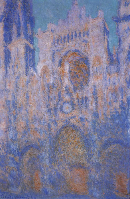Monet Oil Painting Reproductions - Rouen Cathedral Symphony in Grey and Rose
