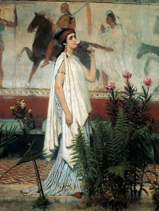 Oil Painting Reproduction of Alma-Tadema - A Greek Woman