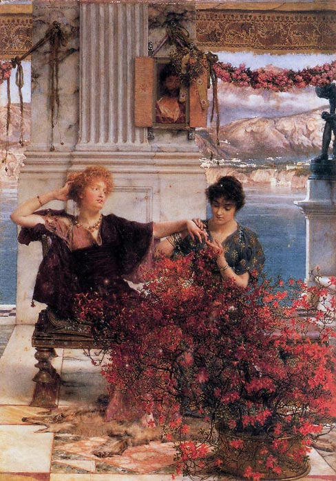 Oil Painting Reproduction of Alma-Tadema - Loves Jewelled Fetter